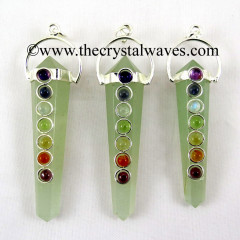 Green Aventurine Double Point Chakra Pendant