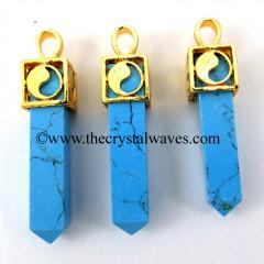 Turquoise Square Yin Yang G.P. Capped Pendant