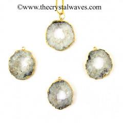 Agate Geodes Slice Pendant