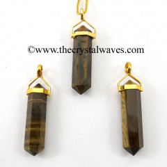 Tiger Eye Agate D.P Pencil G.P. Pendant