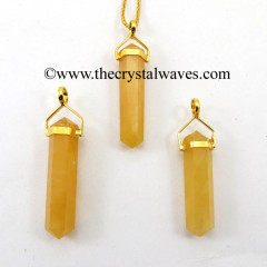 Yellow Aventurine D.P Pencil G.P. Pendant