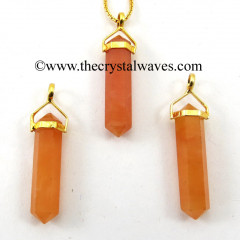 Red Aventurine D.P Pencil G.P. Pendant