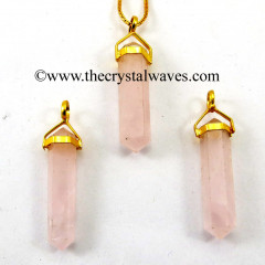 Rose Quartz D.P Pencil G.P. Pendant