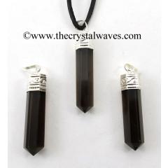 Black Obsidian Capped Pencil Pendant
