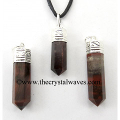 Red Tiger Eye Agate Capped Pencil Pendant