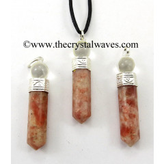 Sunstone 2 Piece Pencil Pendant