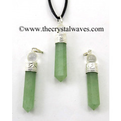 Green Aventurine 2 Piece Pencil Pendant