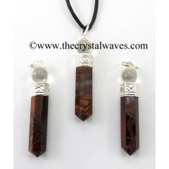 Red Tiger Eye Agate 2 Piece Pencil Pendant