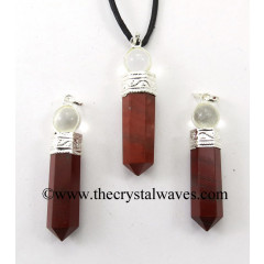 Red Jasper 2 Piece Pencil Pendant