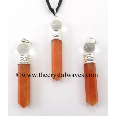 Red Aventurine 2 Piece Pencil Pendant