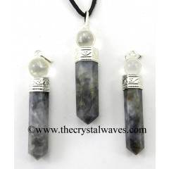 Iolite 2 Piece Pencil Pendant