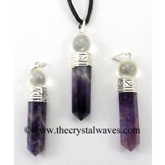 Amethyst 2 Piece Pencil Pendant
