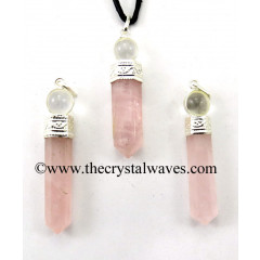Rose Quartz 2 Piece Pencil Pendant