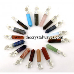 Mix Gemstone 2 Piece Pencil Pendant