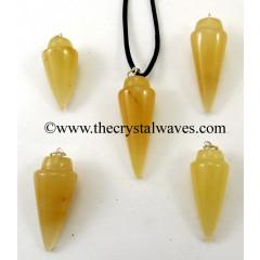 Yellow Aventurine Smooth Pendulum Pendant