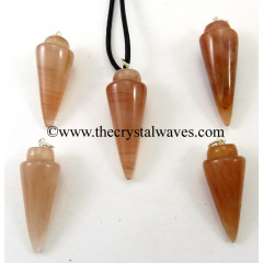 Peach Moonstone Smooth Pendulum Pendant
