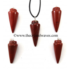 Red Jasper Smooth Pendulum Pendant