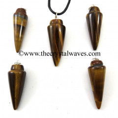 Yellow Tiger Eye Agate Smooth Pendulum Pendant