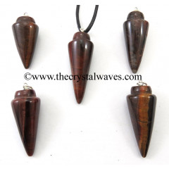 Red Tiger Eye Agate Smooth Pendulum Pendant