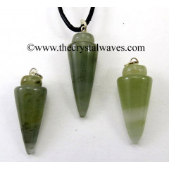 Green Aventurine Smooth Pendulum Pendant