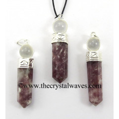 Lepidolite 2 Piece Pencil Pendant