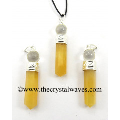 Yellow Aventurine 2 Piece Pencil Pendant