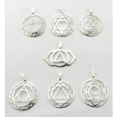 Chakra Symbols Casted S.P Chakra Metal Set