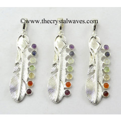 Feather Chakra Metal Pendant