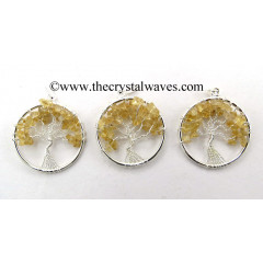 Citrine Chips Tree Of Life Pendant