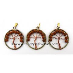 Rudraksha Beads Copper  Tree Of Life Pendant
