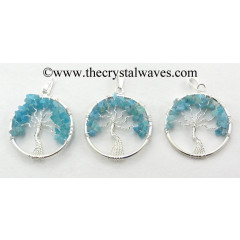 Apatite Chips Tree Of Life Pendant