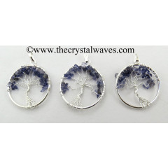Iolite Chips Tree Of Life Pendant