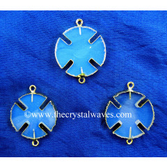 Opalite Viking's Cross Gold Electroplated Connector / Pendant