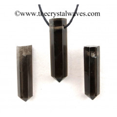 Smoky Obsidian Pencil Pendant