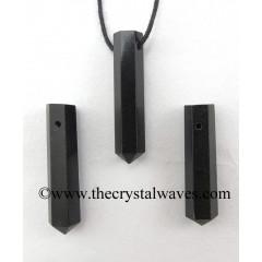 Black Agate Pencil Pendant