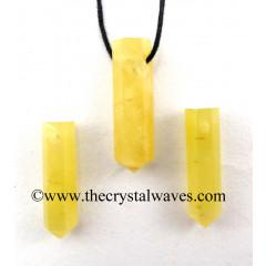 Yellow Aventurine Pencil Pendant