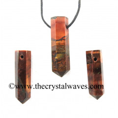 Red Tiger Eye Agate Pencil Pendant