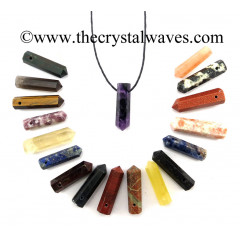 Mix Assorted Gemstone Pencil Pendant
