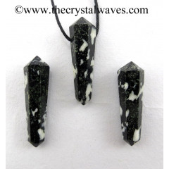 Black & White Tourmaline D.P Pencil Pendant