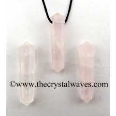 Rose Quartz D.P Pencil Pendant