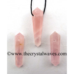 Rose Quartz Good Color D.P Pencil Pendant