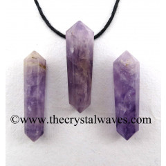 Chevron Amethyst D.P Pencil Pendant
