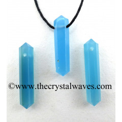 Blue Chalcedony D.P Pencil Pendant