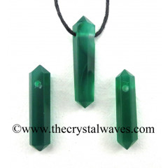 Green Chalcedony D.P Pencil Pendant