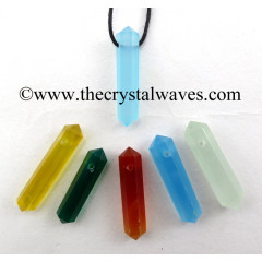 Mix Assorted Chalcedony D.P Pencil Pendant