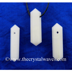 Snow Quartz D.P Pencil Pendant
