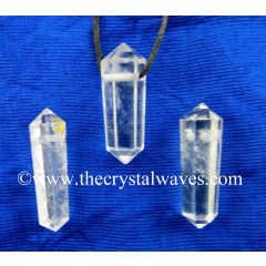Crystal Quartz AB Grade D.P Pencil Pendant