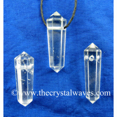 Crystal Quartz A Grade D.P Pencil Pendant