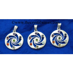 Whirlpool Shape Chakra Metal Pendant