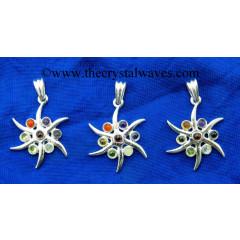 Star Shape Chakra Metal Pendant